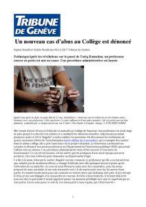 thumbnail of Un nouveau cas d'abus au Collège est dénoncé