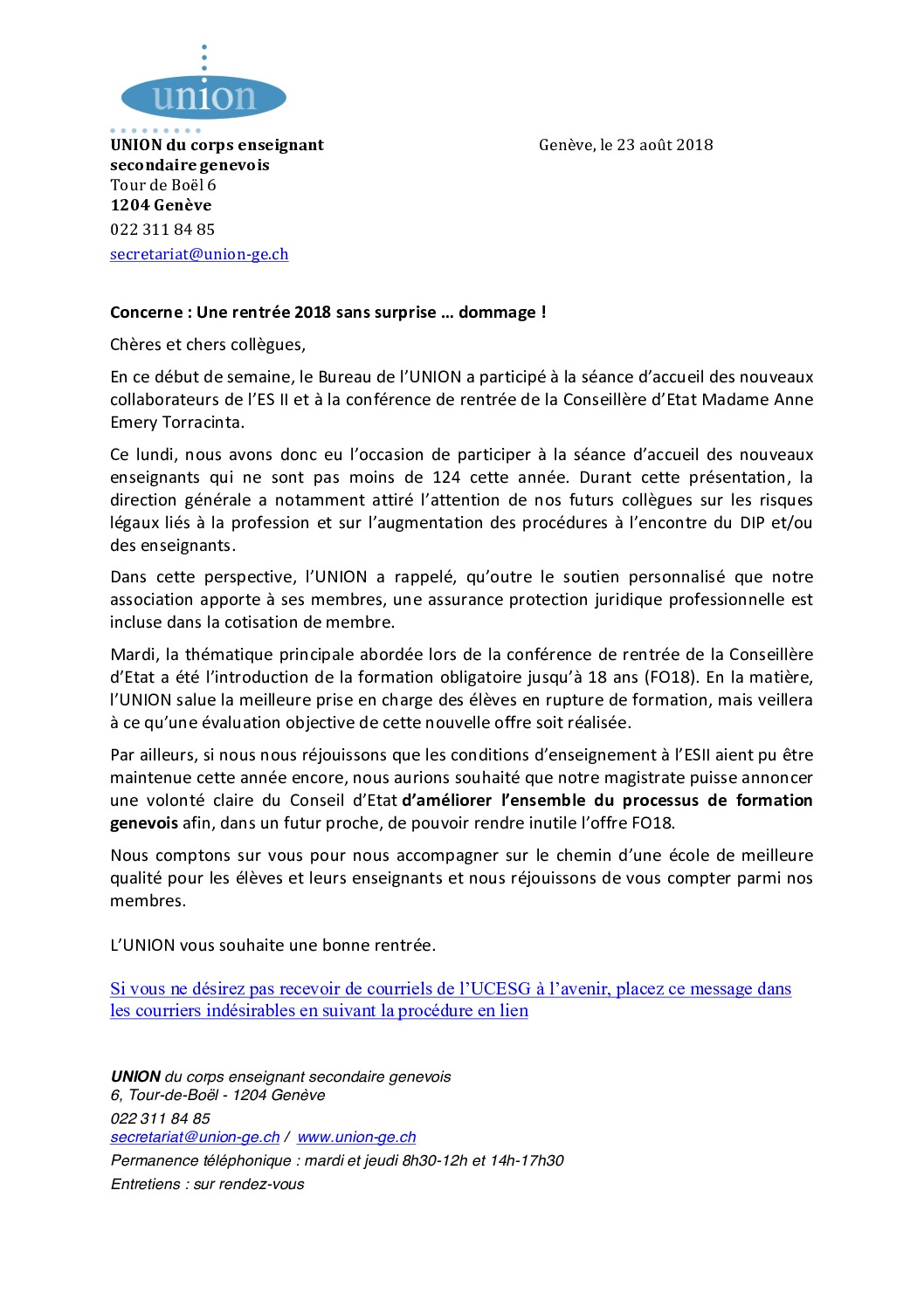 thumbnail of Rentrée 2018-message- pdf